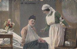 D8378- HOSPITAL, NURSE, INGURED SOLDIER, HEALTH, CENSORED WW1 - Gesundheit