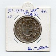 Svizzera - 1931 - 5 Franchi - I° Tipo - Argento - Vedi Foto - (MW1489) - Svizzera