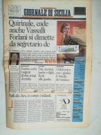 6881FM- GIORNALE DI SICILIA NEWSPAPER, CYCLING-TOUR OF ITALY STAMPS, OBLIT FDC, 1992, ITALY - Altri