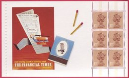 1988 A GB Machin Stamps Booklet Pane  SG X1005L  From Prestige Stamp Booklet - UM / MNH - 1952-.... (Elizabeth II)