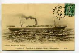 MARINE 232  Paquebot VOLUBILIS Marine De Commerce Cie Generale TRansatlantique 1923 Timb - Dampfer