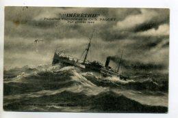 MARINE 236  Paquebot  IMERETHIE Par Grosse Mer Cie N Paquet écrite Par Voyageur En 1916 - Dampfer