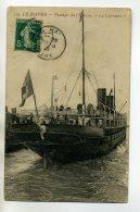 MARINE 239 LE HAVRE   Paquebot  Transatlantique LA LORRAINE  Passage De L'Ecluse 1910 - Passagiersschepen