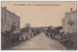 A 17 - 47) COCUMONT (LOT ET GARONNE) LA GENDARMERIE ET LE GROUPE SCOLAIRE - (TRES ANIMÉE - 2 SCANS) - France