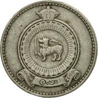 Monnaie, Ceylon, Elizabeth II, 50 Cents, 1963, TTB, Copper-nickel, KM:132 - Sri Lanka