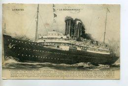 MARINE 385 LE HAVRE   Paquebot LE ROCHAMBEAU Illustrateur 1912 Timb  Par Voyageur - Piroscafi