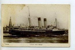 "MARINE 392 Paquebot  LNER RMS BRUGES "" Kingsway Real Photo Series "" - Passagiersschepen"