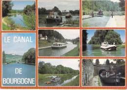 ** Lot De 3 Cartes ** PENICHES ( Canal De BOURGOGNE ) Péniche De Promenade - CPM GF Barge Astkähne Aken Chiatte - Embarcaciones