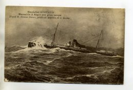 MARINE 462  Bateau  MARECHAL BUGEAUD De Marseille à Alger Par Gros Temps 1919 Ecrite Par Militaire - Krieg
