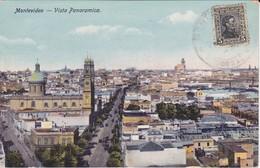 POSTAL DE MONTEVIDEO DE UNA VISTA PANORAMICA DEL AÑO 1929  - URUGUAY - Uruguay