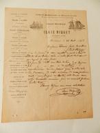 Facture : Tissage Mécanique Isaie Niquet - Usine De Mérélessart Par Hallencourt (Somme) - 1903 - Alimentaire