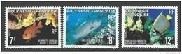 """Polynésie YT 147 à 149 """" Poissons """" 1980 Neuf** - Polynésie Française"""
