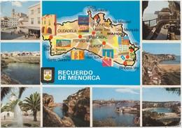 RECUERDO DE MENORCA, Spain, Used Postcard [21840] - Menorca