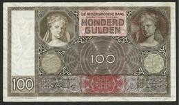 NETHERLANDS / NIEDERLANDE 100 GULDEN 1942 (1930-1944 Issue) P#51c VF - [2] 1815-… : Regno Dei Paesi Bassi