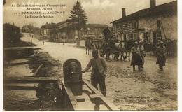 1535 - Marne -  DOMBASLE - EN - ARGONNE  :   LA  ROUTE  DE  VERDUN          Circulée - France