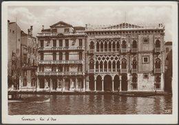 Ca' D'Oro, Venezia, Veneto, 1934 - Traldi Foto Cartolina - Venezia (Venice)
