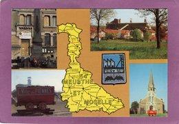 54 PIENNES Multivues Avec Carte Géographique Du Département De La Meurthe Et Moselle - Francia