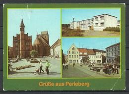 Deutschland DDR Ansichtskarte PERLEBERG Nach Estland Gesendet, Mit Briefmarke - Perleberg