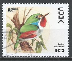 Cuba 1996. Scott #3748 (U) Fauna Of The Caribbean, Todus Multicolor, Bird * - Cuba