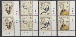 British Antarctic Territory (BAT) 1985 Early Naturalists 4v (pair, Corner)  ** Mnh (40563A) - Ongebruikt