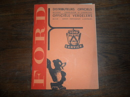 ANCIEN PETIT LIVRET FORD / DISTRIBUTEURS OFFICIELS  BELGIQUE ET GD LUXEMBOURG 1961 - Voitures