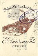 Lettre De Change / Traite 1900 / 76 DIEPPE / DAVIRON / Scierie Mécanique / Bois  Amérique / Pour Demange 88 Val D'Ajol - Cambiali