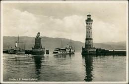Ansichtskarte Lindau (Bodensee) Dampfer Bavaria Hafen 1935 - Zonder Classificatie