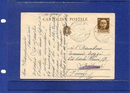 ##(DAN189)-1941-Cartolina Postale C.30  Da Sagrado D'Isonzo (Gorizia) Per Rifredi (Firenze) - Marcophilia