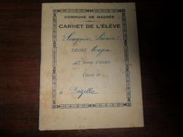 ANCIEN CARNET  DE L'ELEVE  SOUGNIER LEONIE   /  COMMUNE DE MAGNEE  / NON DATE - Diplomi E Pagelle