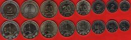 Turkmenistan Set Of 8 Coins: 1 Tenne - 2 Manat 2009-2010 UNC - Turkménistan