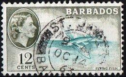 BARBADOS, COLONIA BRITANNICA, BRITISH COLONY, REGINA ELISABETTA II, 1954, FRANCOBOLLO USATO YT 219   Scott 242 - Barbados (...-1966)