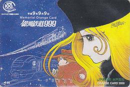 Carte Orange Japon - MANGA - GALAXY EXPRESS - ANIME Japan Prepaid Card - BD Comics JR Karte - 10538 - Cómics