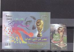 Stamps EGYPT 2018 SOCCER FOOTBALL WORLD CUP RUSSIA NEW MNH SET */* - Ongebruikt
