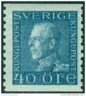ZWEDEN 1921-36 40öre Guataf Blauw Tweerzijdig PF-MNH-NEUF - Sweden