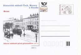 Rep. Ceca / Cart. Postali (Pre2014/17) Stazione Ferroviaria Storica In Boemia, Moravia E Slesia; Stazione Di Brno - Fabbriche E Imprese