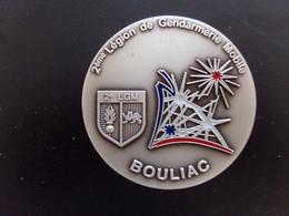 Medaille En Bronze 2 ° Legion De Gendarmerie Mobile Bouliac Dia 6,5 Cm 157 Gr Avec Sa Boite - Police