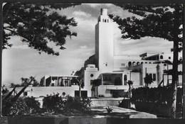 LIBIA - TRIPOLI  - CASINO' UADDAN - FORMATO PICCOLO - VIAGGIATA 1956 FRANCOBOLLO ASPORTATO - Libia