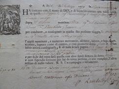 Connaissement Roulage  Illustré En Italien 1779 A Traduire - Italie