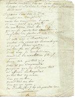 """HAÏTI. CAP-FRANCAIS. """"CHANSON COMPOSEE PAR UN COLON PROVENCAL ECHAPPé DE L'INCENDIE DU CAP ET REFUGIé A BALTIMORE"""" - Autographs"""