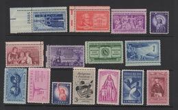 Varios Sellos 15 Unidades 1952 / 1957 Estados Unidos MNH ** - United States