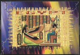 EGITTO - THE GODDESS MAAT AND HATHOR -  FORMATO GRANDE 16X 11 - VIAGGIATA 1999 - Egitto