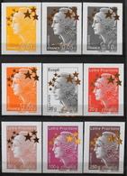 FR. 2012 - Du N° 4662A Au N° 4662Q 15 Timbres Neufs** - Grand Format : 60 X 80mm - MAXI MARIANNE Etoile D'Or - 2008-13 Marianne Of Beaujard