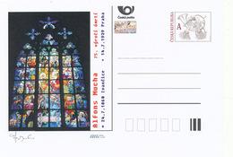 Rep. Ceca / Cart. Postali (Pre2014/19) Alphonse Mucha (1860-1939) Pittore E Artista Decorativo Ceco In Stile Art Nouveau - Vetri & Vetrate