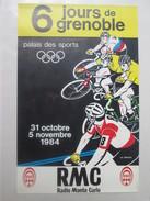 Affiche Des 6 Jours De GRENOBLE 1984 - Cycling