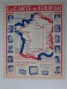 Affiche Du Tour De France 1960 Avec Publicite Grammont - Wielrennen