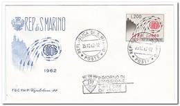 San Marino 1962, Postfris MNH, Europe - FDC
