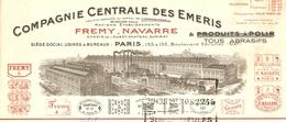 FACTURE 1930 FREMY NAVARRE Cie CENTRALE DES ÉMERIS BD SERURIER PARIS 19 ème VERS CHARLIEU LOIRE - Profumeria & Drogheria