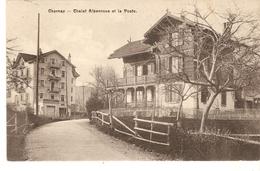 Cp Suisse - Chernex Chalet Alpenrose Et La Poste - Suisse