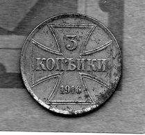 Allemagne Zone Est / Ost ( Occupation? ) 3 Kopecks 1916 - Deutschland