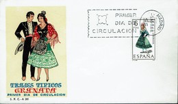 Spanien Espana Spain 1968 - Trachten: Granada - MiNr 1775 FDC - Kostüme